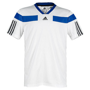 adidas BOYS ADIPOWER BARR SEMI FITTED TEE WHITE