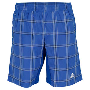 adidas BOYS TS PLAID BERMUDA SHORT BK/BLUE