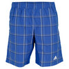 Boys` Tennis Sequencials Plaid Bermuda Short Black/Blue Beauty by ADIDAS