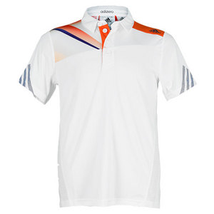 adidas BOYS ADIZERO TENNIS POLO WHITE