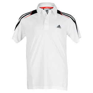 adidas BOYS RESPONSE TRADITIONAL POLO WHITE