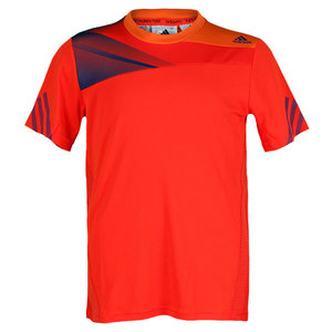 adidas BOYS ADIZERO TENNIS TEE HI-RES RED