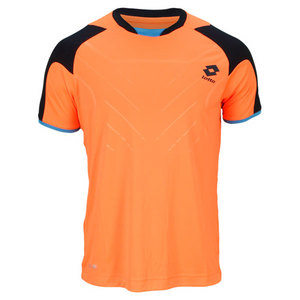 LOTTO MENS MATRIX TECH TEE FLOU FANTA/NAVY