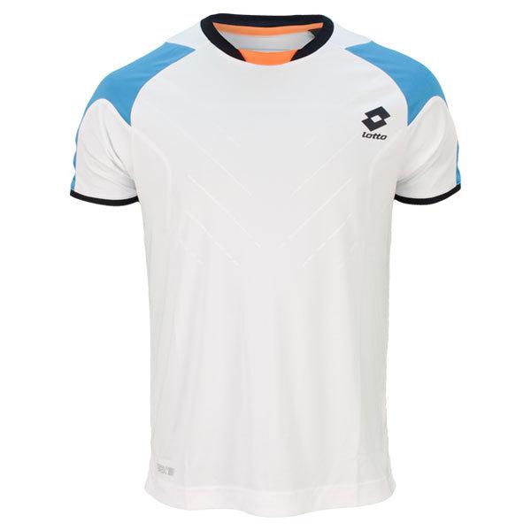 Men's Matrix Tech Tennis Tee Shirt White/Aquarius