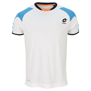 LOTTO MENS MATRIX TECH TEE WHITE/AQUARIUS
