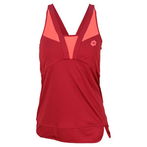 LOTTO WOMENS NATTY TENNIS TANK VELVET/ROSE