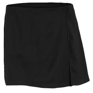 VICKIE BROWN WOMENS WRAP TENNIS SKORT BLACK