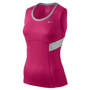 NIKE WOMENS POWER TENNIS TANK PINK FORCE
