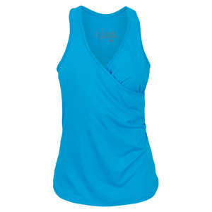 VICKIE BROWN WOMENS WRAP TENNIS TANK TURQUOISE
