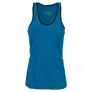 VICKIE BROWN WOMENS DIANNA TENNIS TANK BLACK/TEAL