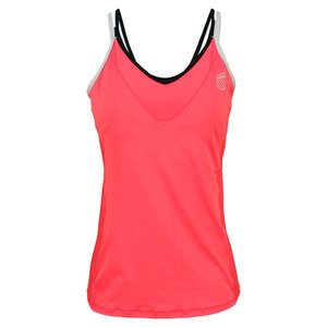 K-SWISS WOMENS STRAPPY V TENNIS TANK ROUGE RED