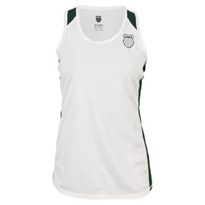 K-SWISS WOMENS ACCOMPLISH RACERBACK WHITE/GN