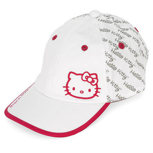 HELLO KITTY DIVA COLLECTION SCRIPT TENNIS HAT WH/MAG