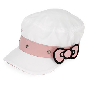 HELLO KITTY TENNIS CADET CAP WHITE/PINK