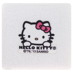 HELLO KITTY TENNIS WRISTBANDS WHITE