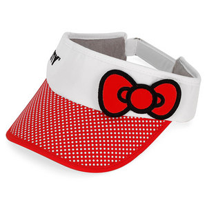 HELLO KITTY TENNIS BOW VISOR RED