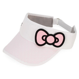HELLO KITTY TENNIS BOW VISOR PINK
