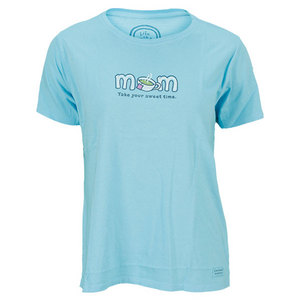 LIFE IS GOOD WOMENS MOM SWEET TIME TEE TURQUOISE