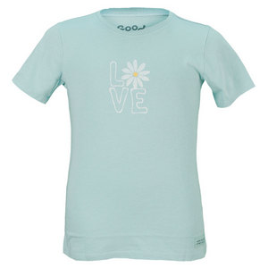 LIFE IS GOOD GIRLS DAISY LOVE CRUSHER TEE TIDE BLUE