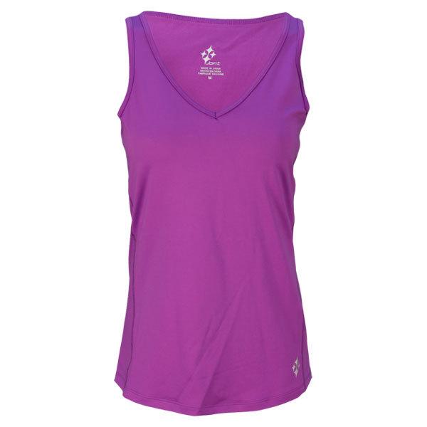 Women's Montego V Neck Tennis Tank Violet