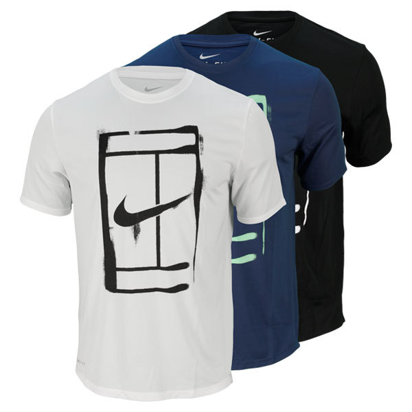 Men's Court Logo Short Sleeve Tennis Tee