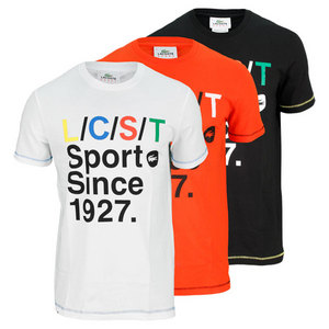 LACOSTE MENS SHORT SLEEVE LCST GRAPHIC TEE