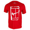 NIKE Men`s Court Logo Short Sleeve Tennis Tee Gym Red