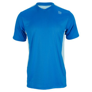 WILSON MENS CLAIM VICTORY TENNIS V-NECK POOL
