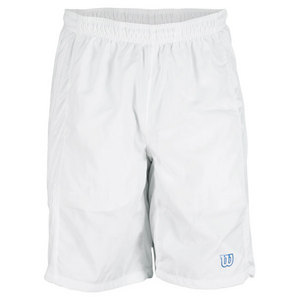 WILSON MENS CLAIM VICTORY TENNIS SHORT WHITE