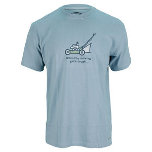 LIFE IS GOOD MENS WHEN THE MOWING TEE SLATE BLUE