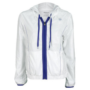 WILSON WOMENS BALL BREAKER TENNIS JACKET WHITE
