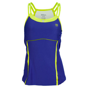 WILSON WOMENS BALL BUSTER TENNIS TANK INK/GREEN