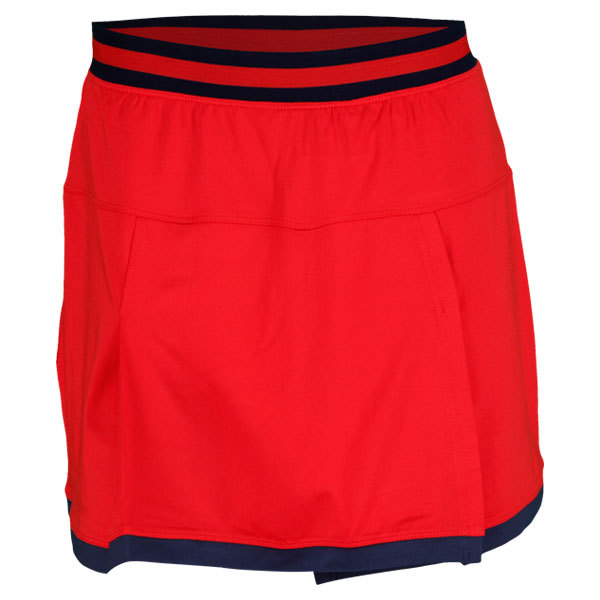 Women's Tie Breaker Tennis Skort Red