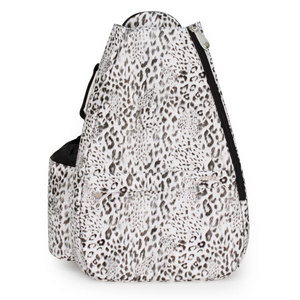 LIFE IS TENNIS ARCTIC LEOPARD SMALL SLING TENNIS BAG