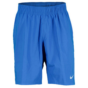 NIKE MENS ALL COURT TENNIS SHORT PRIZE BLUE