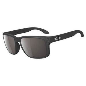 OAKLEY MENS HOLBROOK SUNGLASSES BLACK AND GRAY