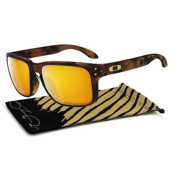 Men`s Holbrook Shaun White Gold Series Sunglasses Brown The lightweight Mens Holbrook Sunglasses Brown are the new standard for Oakleys Conceptualized by snowboarding superstar Shaun White and his brother Jesse the design of the Holbrook captures the spirit of American adventure Metal bolts and icons accentuat