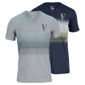 NIKE MENS RF TROPHY V NECK TENNIS TEE