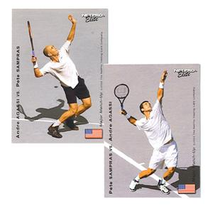 NETPRO AGASSI V SAMPRAS MAJOR MATCH UP CARD