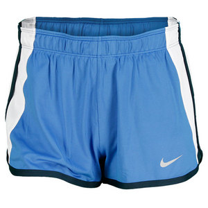 NIKE WOMENS POWER TENNIS SHORT DISTANCE BLUE