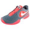 Men`s Air Max Courtballistec 4.3 Tennis Shoes Red and Gray by NIKE