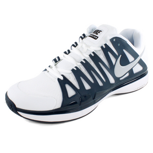 NIKE MENS ZOOM VAPOR 9 TOUR SHOES WH/NAVY