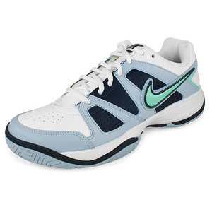 NIKE WOMENS CITY COURT VII SHOES WH/NAVY