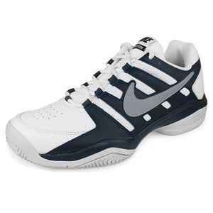 NIKE MENS AIR SERVE RETURN SHOES WH/NAVY