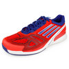 Men`s CC Adizero Feather II Tennis Shoes Red and Blue by ADIDAS