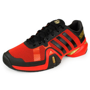 adidas MENS BARRICADE 8 SHANGHAI SHOES RD/BK