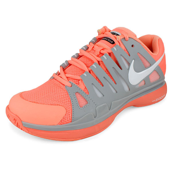 Women's Zoom Vapor 9 Tour Tennis Shoes Pink And Gray