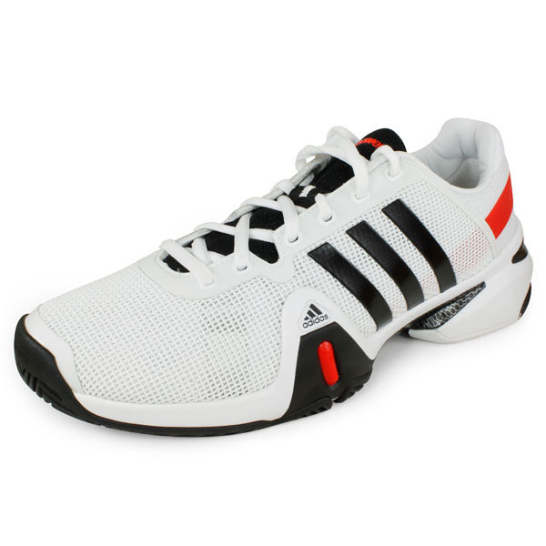 Men's Barricade 8 Tennis Shoes White And Black