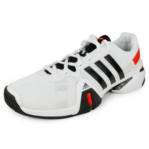 adidas MENS BARRICADE 8 SHOES WHITE/BLACK/RED