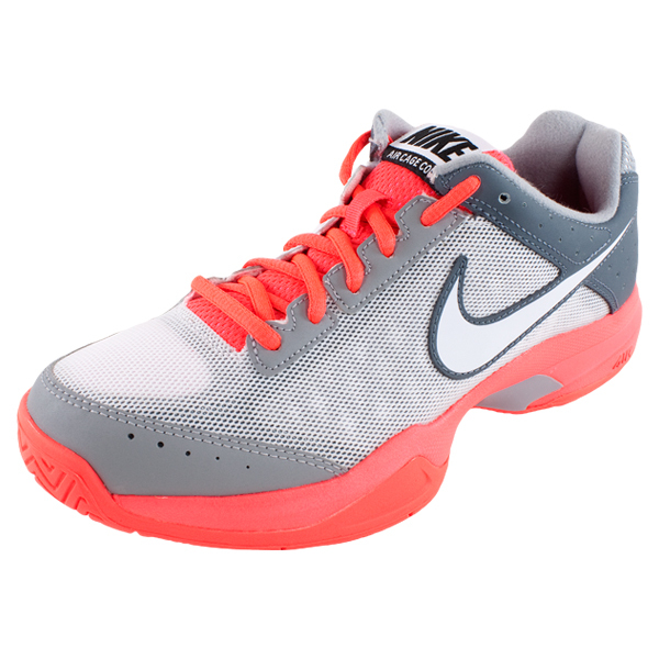 Men's Air Cage Court Tennis Shoes Gray And Red